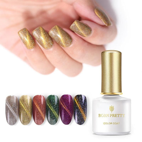 Holographic Magnetic Nail Gel 6ml Cat Eye Effect UV Gel Lacquer Soak Polish