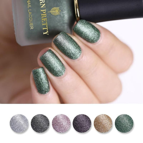 Gold Silver Pearlescent Effect Shimmer Nail Art Polish Varnish Manicure 6ml Glitter Matte Nail Polish