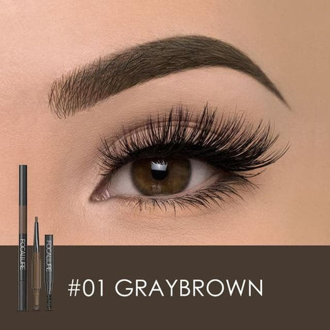 Waterproof professional 3 in 1 auto Eyebrow Pencil