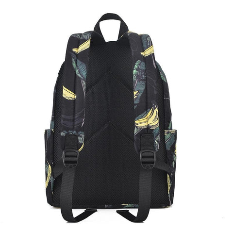 Waterproof Banana Printing Backpack