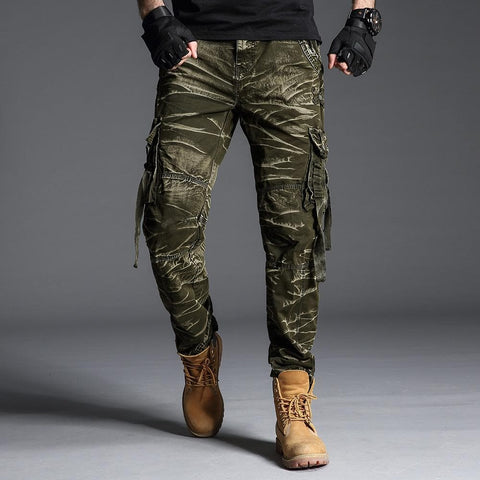 3fe24c4b8560 Camouflage Straight Loose Long Military Cargo Pants