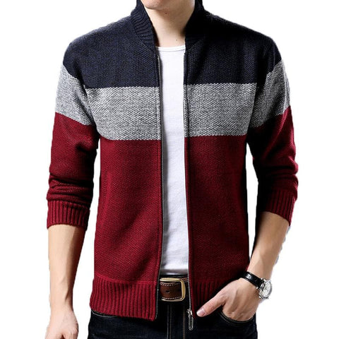Wool Fleece Casual Warm Zipper Up Sweaters