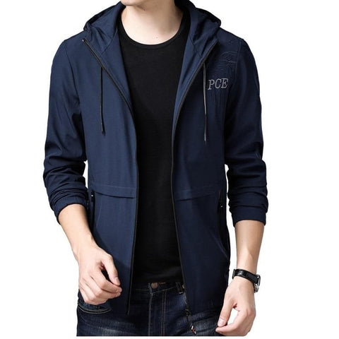 Windbreaker Hooded Long Outwear Coat Jacket