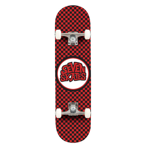 Seven CHECKERED RED Complete 7.25""