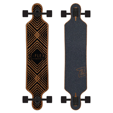 Z FLEX COMPLETE LONGBOARD DROP THRU - 41.5 BLACK DIAMOND