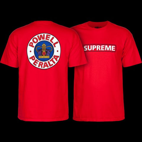 POWELL PERALTA SUPREME TEE RED
