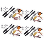 4 x Brushless Motor + 4 x 30A ESC + 4 Propeller Combo Kit for Quadcopter F450 - Robodo