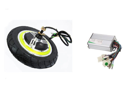 12 Inch 350w 24v Brushless E-bike Wheels Scooter Hub Motor + Controller