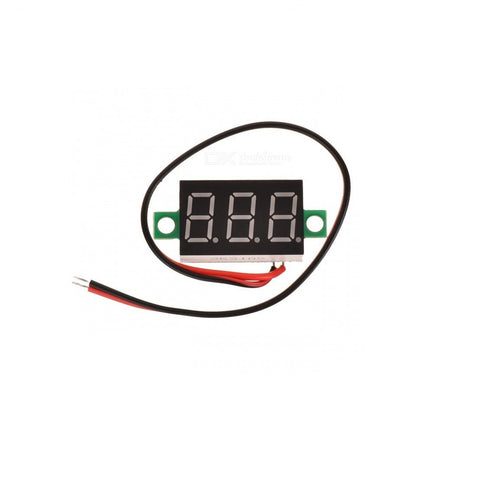 2 Wires Mini 0.36 Digital Voltmeter DC 4.7-32V Vehicles Motor Voltage Panel Meter LED Display