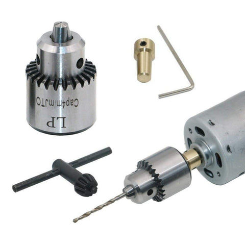 Mini Electric Drill Chuck 0.3-4mm Jto Taper-Mounted Lathe PCB Drill Press for Motor Shaft Connecting Rod 3.17mm