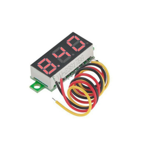 3 Wires 0.28 inch Digital Voltmeter DC 0-100V Red Light LED Panel Voltage Meter