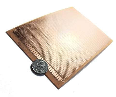 2 Pieces General Purpose / Perforated PCB Boards 12 x 18 cm. ( Perfboard )