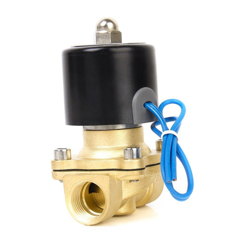 "24V Dc 1/2"" Brass Electric Solenoid Valve Water Air Fuels Gas Normal Closed New"