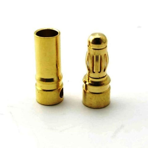 3 pairs x 3.5mm Gold Bullet Banana Connector Plug For ESC Battery Motor - Robodo