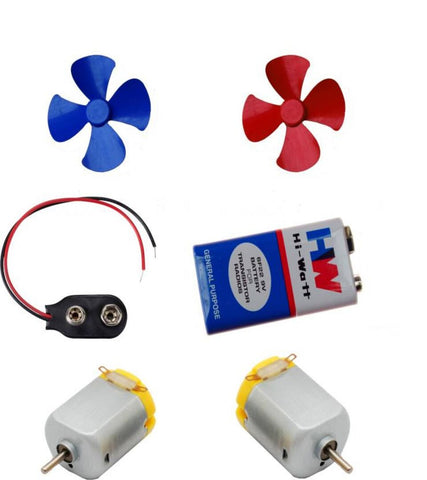 2 Pcs Mini Toy Motor + 2 pcs Fan blade for RC Car, toys,science projects DIY