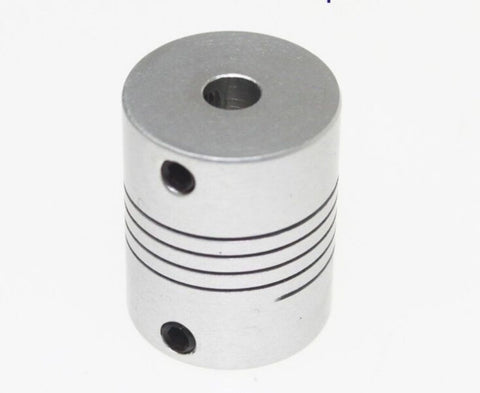 Aluminium Flexible Shaft Coupling 5mm x 5mm for CNC Motors - Robodo