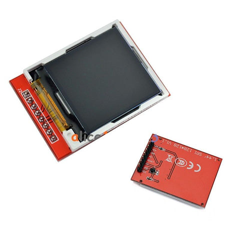 1.44 red serial LCD display module 128*128 tft color screen PCB adapter