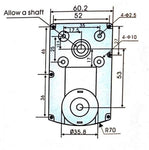 12v DC Square Gear / Geared Motor 60 RPM - High Torque