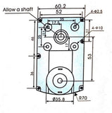 Copy of 12v DC Square Gear / Geared Motor 500 RPM - High Torque