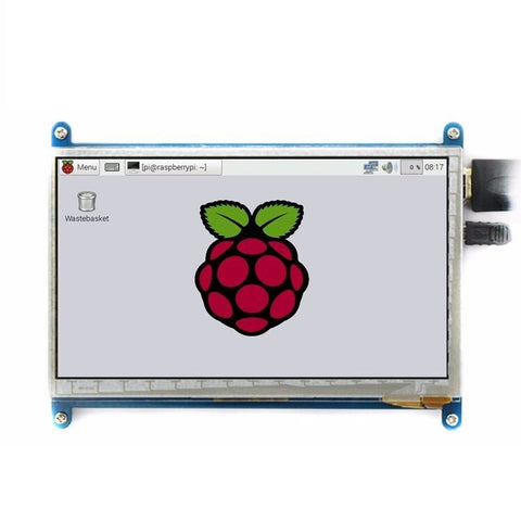 "7"" inch LCD display monitor suitable for Raspberry Pi 3 with touch screen 800*480 - Robodo"