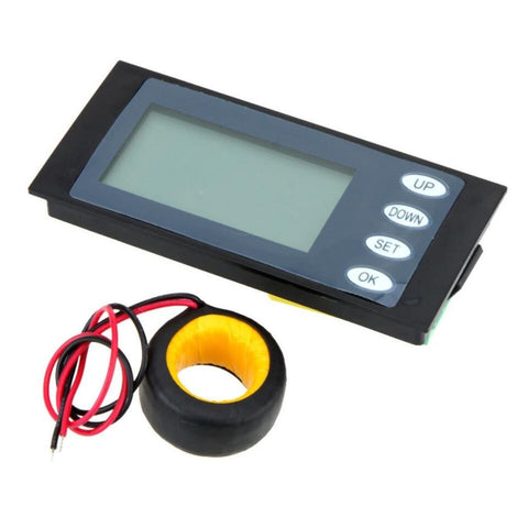 AC 100A LCD Digital Power Meter Kwh Time Watt Voltmeter A mmeter with Ct - Robodo