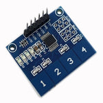 TTP224 4-Channel Digital Touch Sensor Module Capacitive Switch Button for MCU