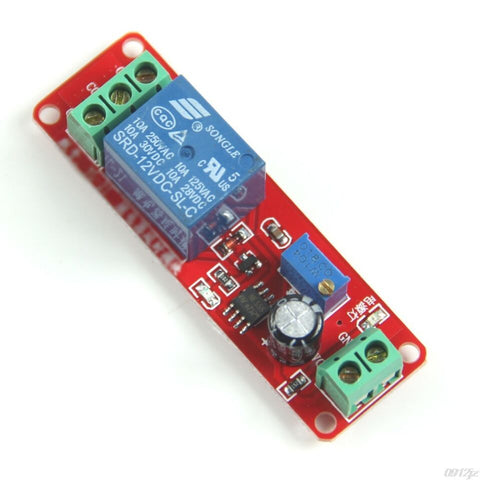 Delay Timer Switch Adjustable 0-10sec With NE555 Electrical Input 12V 10A - Robodo