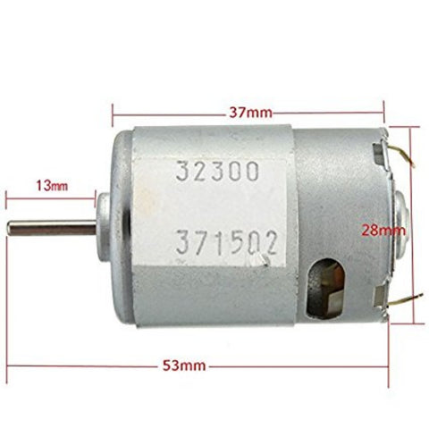 DC3-12V New DC3-12V Large Torque Motor Super model with High Speed Motor New Arrival Rated voltage 9V 20W - Robodo