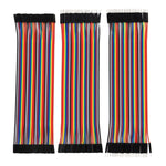 Breadboard Jumper Wires Ribbon Cables Kit, Multicolored (120 Pieces)