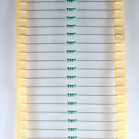 100 PCS 100 OHM CARBON FILM RESISTORS .25 WATT TOLERANCE 5%