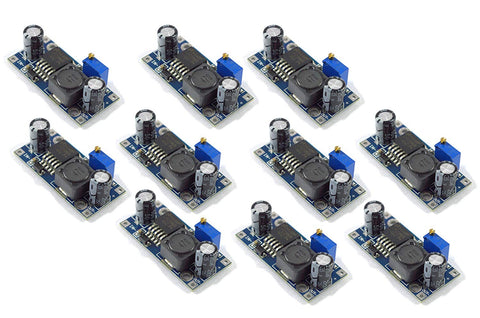 LM2596 DC to DC Buck Converter 3.0-40V - 1.5-35V Power Supply Step Down Module (10 Pieces),Multi-colour