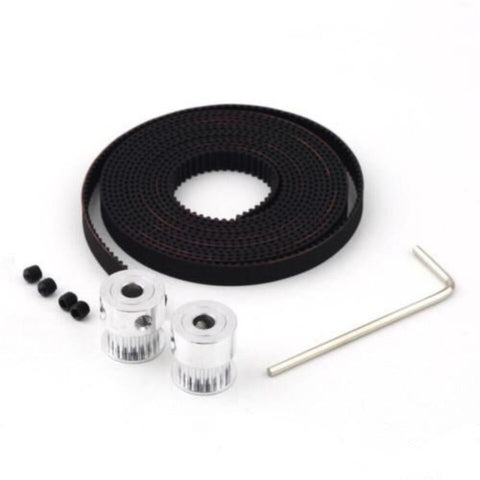 2 meter x GT2 Timing Belt + 2pcs x GT2 pulley ( 20 teeth ) for 3d printer - Robodo