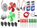 electronics 30 items loose parts materials Science Project kit - Robodo