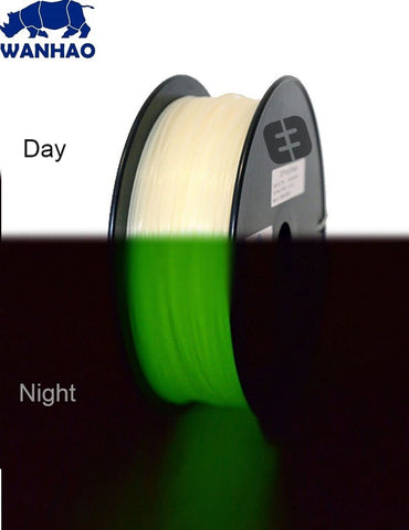 Wanhao Luminous Green (Glow in the Dark) PLA 1.75mm 1 KG Filament for 3d printer