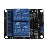 2 channel 12V 10A relay control board module with optocoupler - Robodo