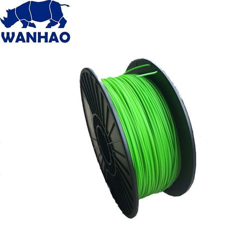 Wanhao Nuclear Green ABS 1.75 mm 1 KG Filament for 3d printer