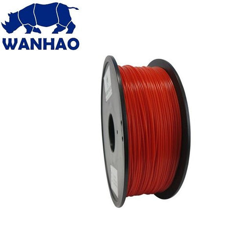 Wanhao Translucent Red PLA 1.75 mm 1 KG Filament for 3d printer