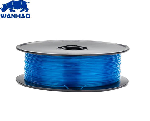 Wanhao Translucent Blue PLA 1.75 mm 1 KG Filament for 3d printer
