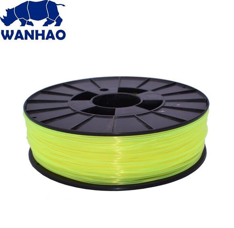 Wanhao Translucent Yellow PLA 1.75 mm 1 KG Filament for 3d printer