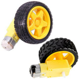2 Set Smart Car Robot Chassis Kit With Plastic Tire Wheel With Deceleration DC 3-6V Drive Gear Motor For Arduino