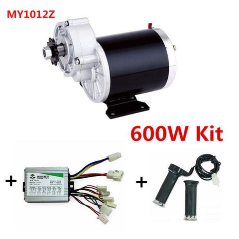 MY1020Z 600W + Motor Controller + Twist Throttle, DIY Electric Bicycle Kit