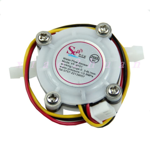 YF-S401 Water Flow Meter Hall Sensor Counter Small - 0.3 to 6 L/min 5VDC