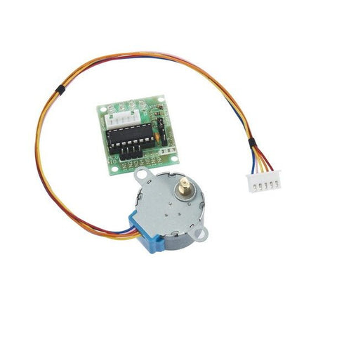 5V Stepper Motor 28BYJ-48 With Drive Test Module Board ULN2003 5 Line 4 Phase - Robodo