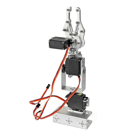 DIY 3DOF 3-Axis Control Palletizing Robot Arm Model with Servo Arm Plate (not including MG995 servo) - Robodo