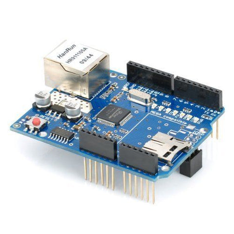 Ethernet W5100 Shield Network Expansion Board w/ Micro SD Card Slot for Arduino - Robodo