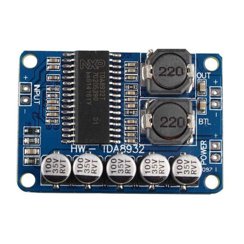 Digital power amplifier board module 35W mono amplifier module High-power TDA8932 low power consumption - Robodo