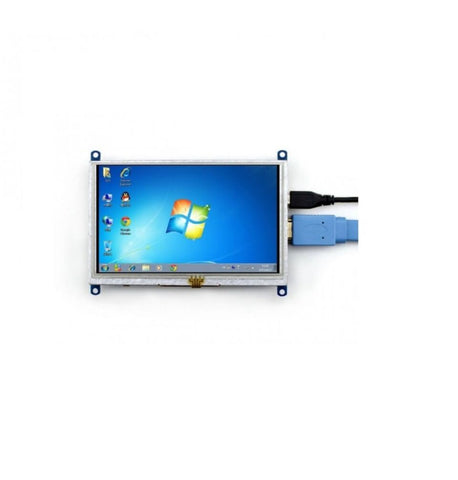 Waveshare 5inch HDMI LCD (B) 800×480 supports various systems - Robodo