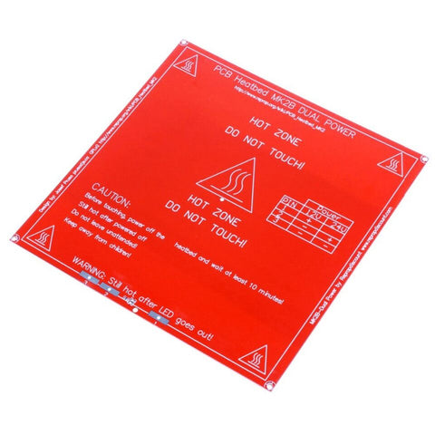 RepRap MK2B 3D printers Dual Power PCB HeatBed Heat Bed 12/24V