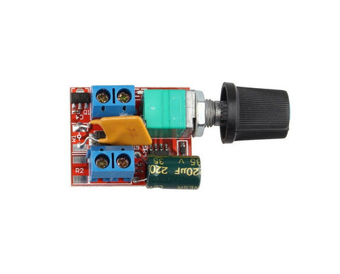 Mini DC 5A motor PWM speed controller 3-35V speed control switch LED dimmer, - Robodo