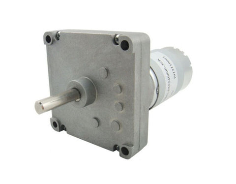 12v DC Square Gear / Geared Motor 300 RPM - High Torque - Robodo